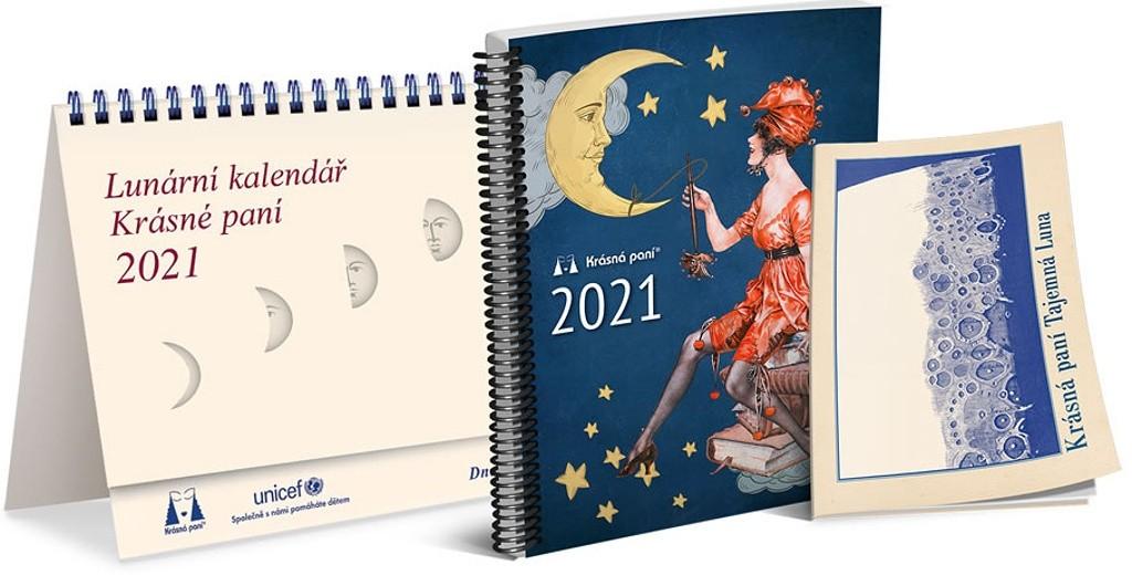 Kalendář 2021 Krásná paní lunární